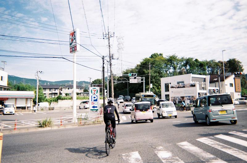 フィルムカメラでロードバイクの旅は名古木からスタート