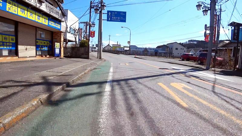茂木町の市街地をサクッと通過