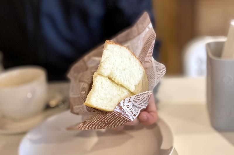 素朴な味わいがある手作りパンがとても美味しい