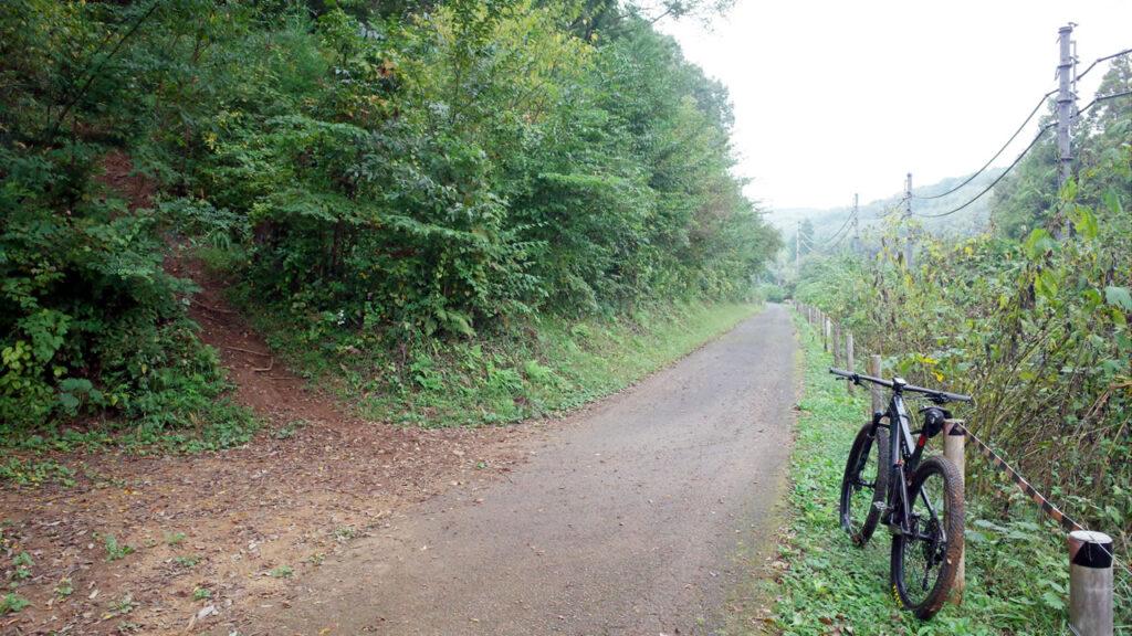 トレイルを下って大荷田川に戻ってきた