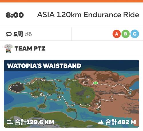 お家で手軽に荒サイ気分を味わえると人気のASIA 120km Endurance Ride