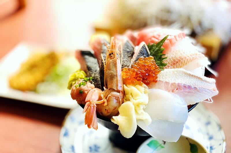 そうま水産の「セリで買い付けた海鮮丼」