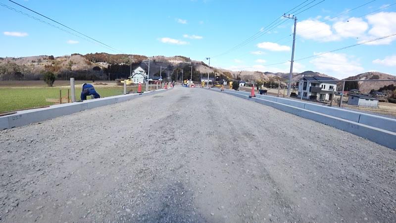 那珂川にかかる橋が舗装工事中!