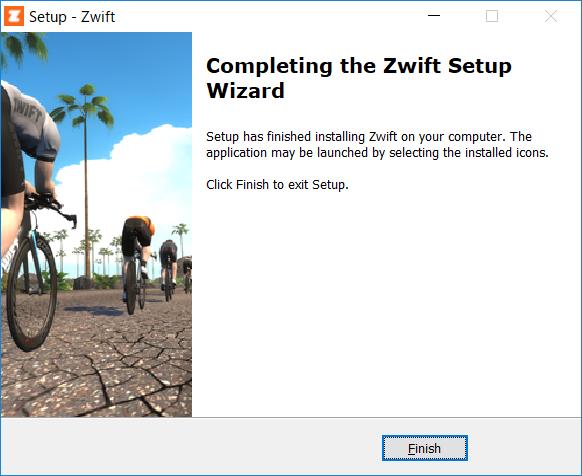 ZWIFTアプリインストール完了!