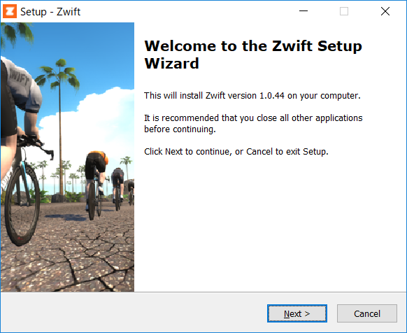 ZWIFTアプリをインストールする