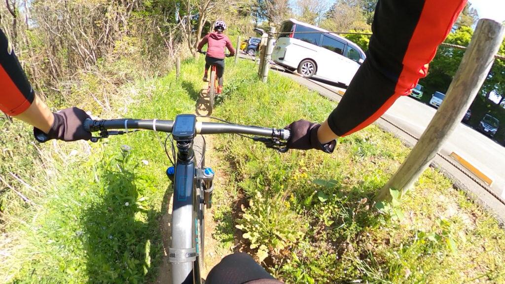 フォレストバイクの新コース・忍者コースに挑戦