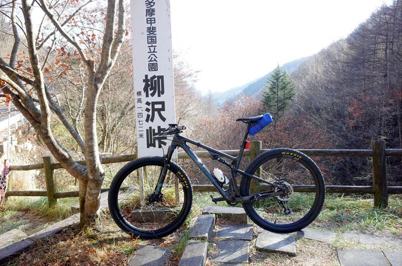 虚無の境地で柳沢峠上り切りました・・・