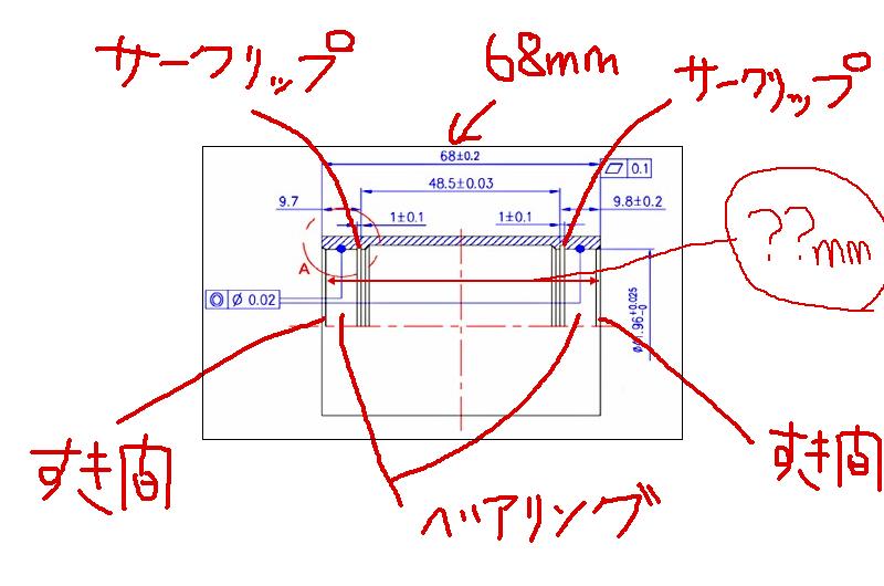 シェル幅とベアリング間の距離を調べよう