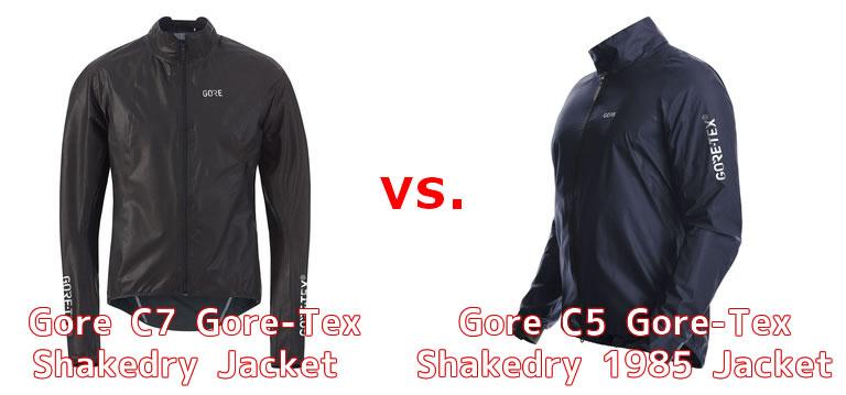 シェイクドライジャケットにあるC7、C5などの型番は何が違うの?