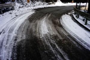 裏和田には若干の雪が