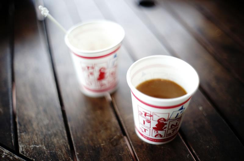 パンパティのコーヒーサービスも嬉しい