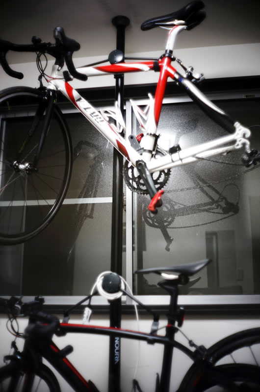 自転車置き場に最適なバイクタワー10だが・・・