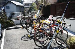 自転車ラックが完備