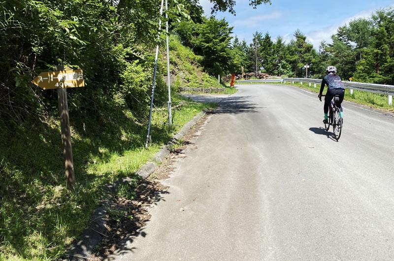 御荷鉾スーパー林道の展望台の入り口
