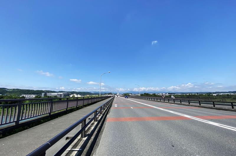 拝島橋は超快晴