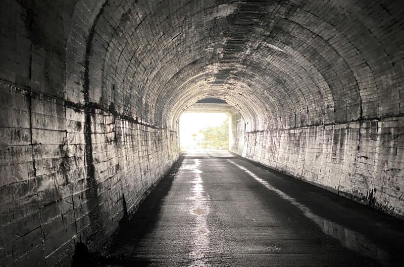 白沢洞門。おや、このトンネルは・・・