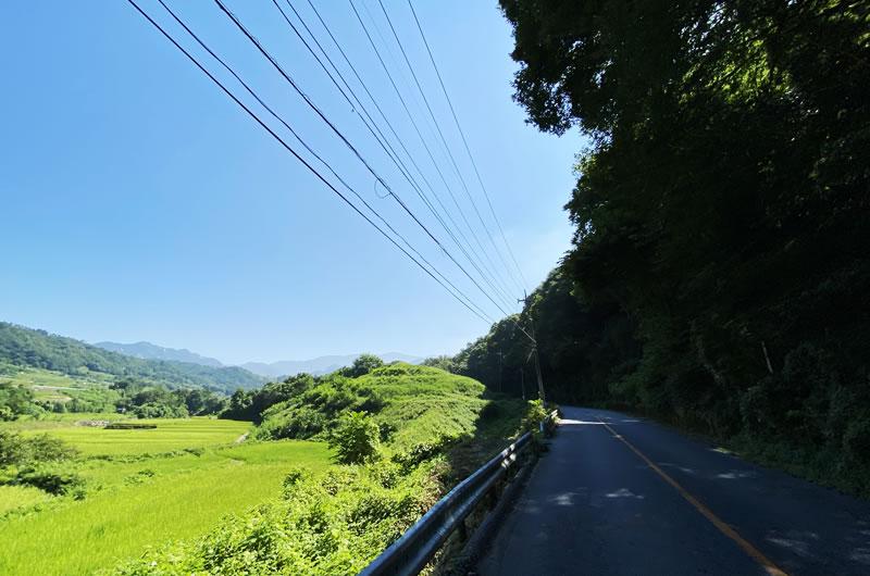 昇仙峡への道のりはすでに絶景