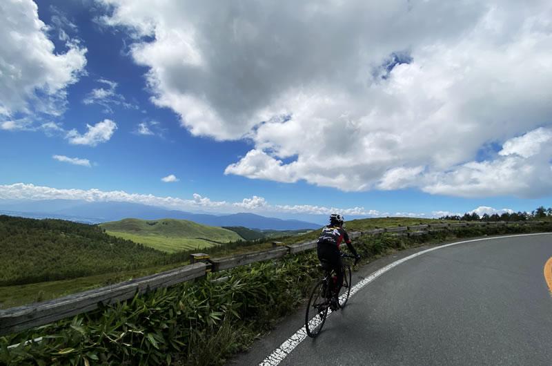 車山高原への道のりが絶景