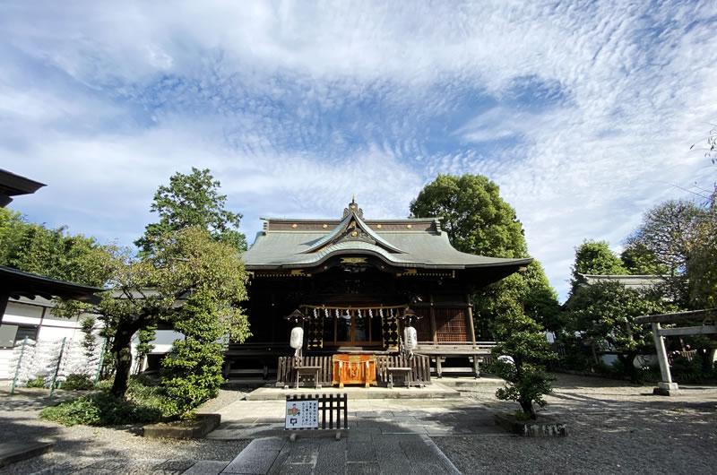 阿豆佐味天神社・立川水天宮に到着