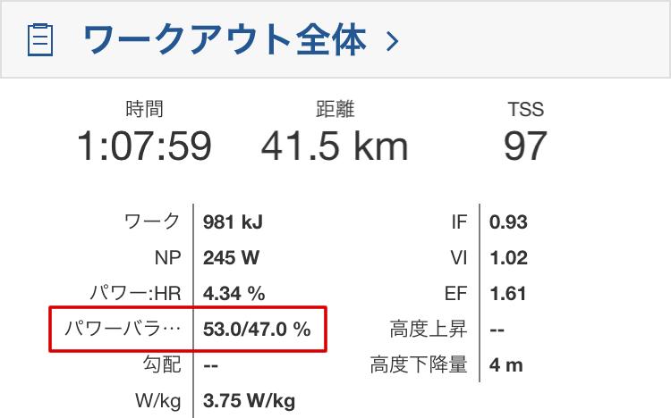 左右バランスはしっかり53:47(`・ω・´)