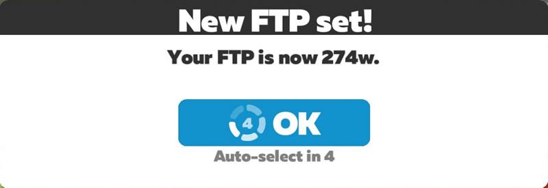 2021年2回目のFTPはいかほど?
