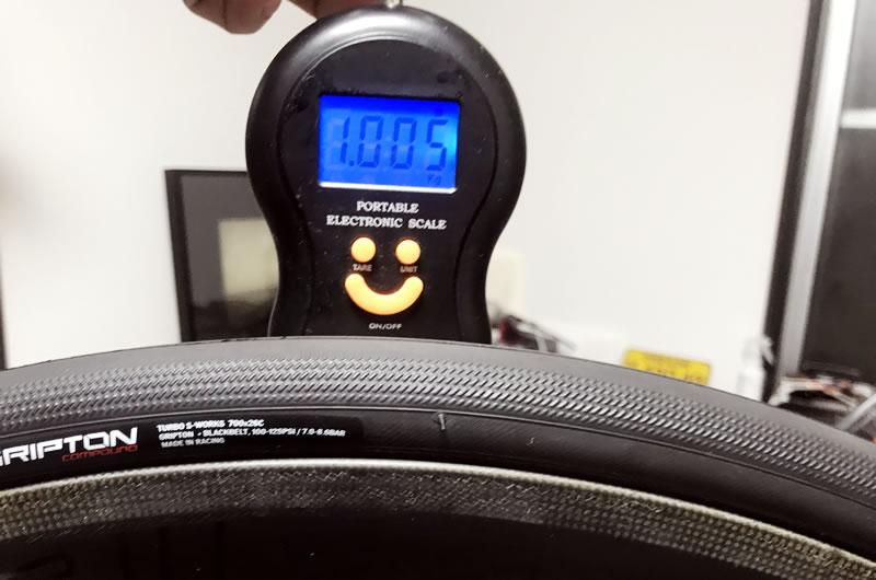 CLX50の前輪は1005g