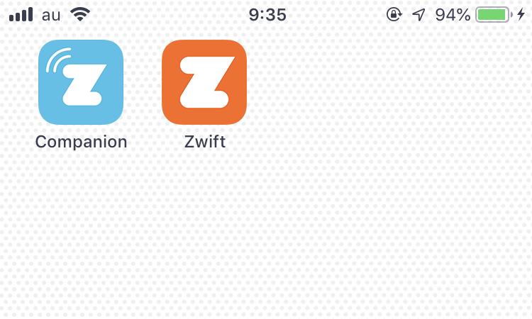ZWIFTは2種類のアプリを駆使するものだったとは