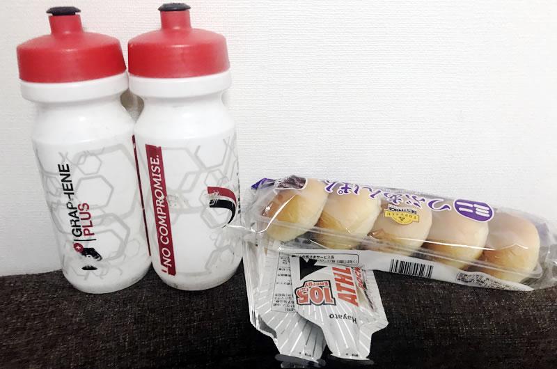 ZWIFTインドアサイクリングでも補給食はたっぷり準備!