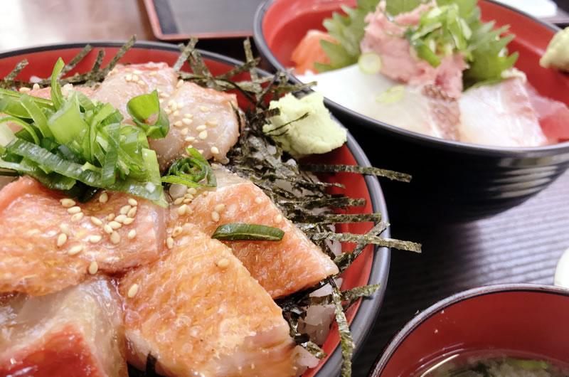 「脂金目づけ丼」&「海鮮丼」が美味しい!