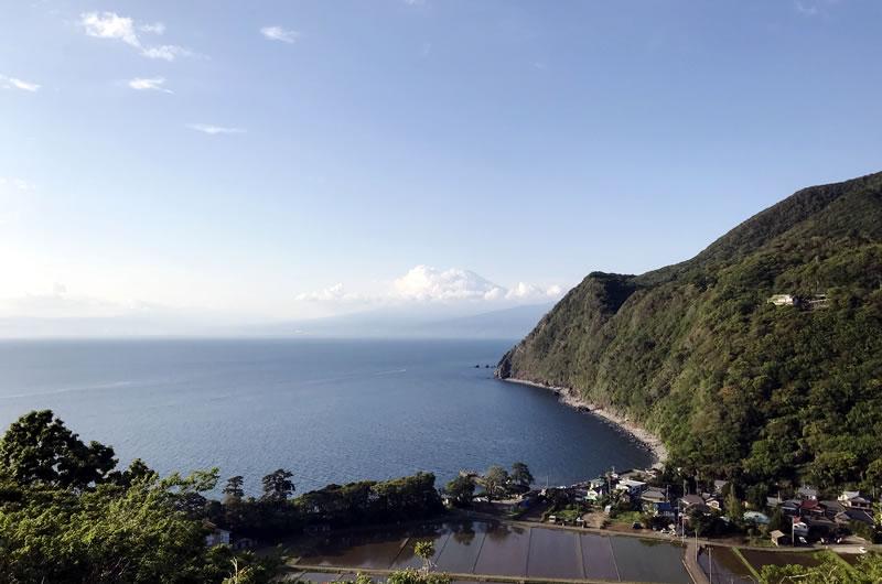 富士山を目の前に臨む戸田の最後の上り