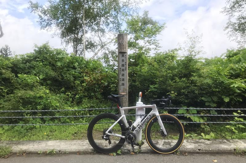 景色を楽しみながらサイクリングで風張峠に到着