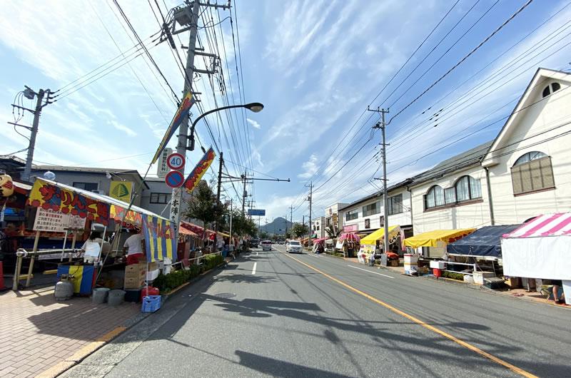 武蔵五日市はお祭り開催中
