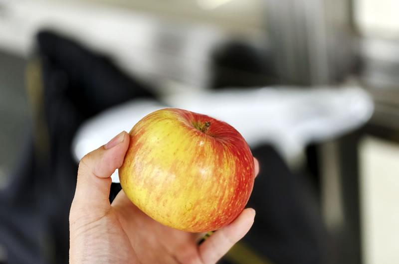 サービスでいただいてしまったりんごが美味い