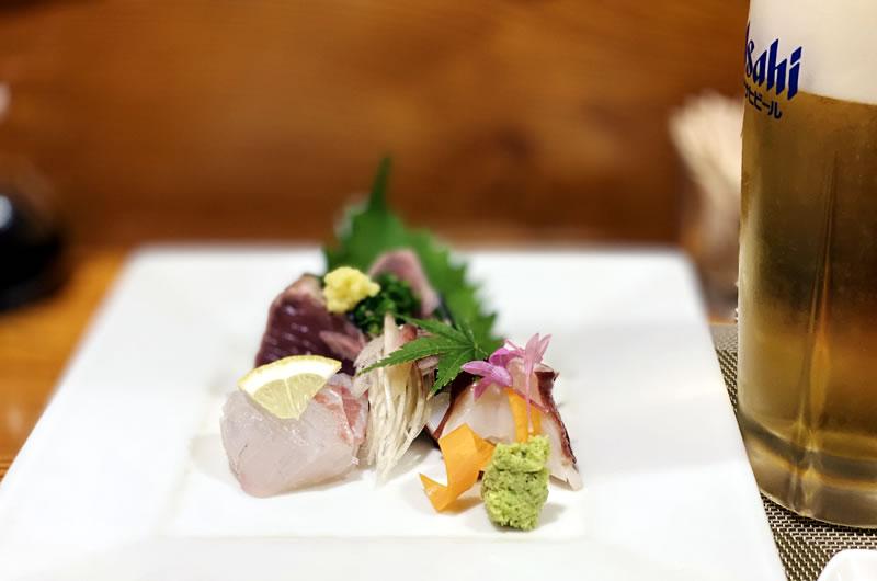 和可奈寿司の刺身がとんでもないクオリティ