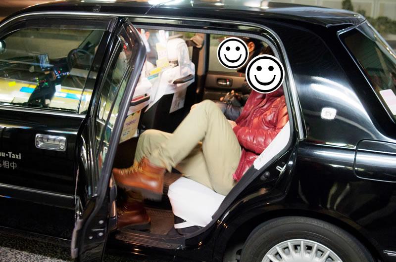 新年会主催者はタクシーで帰宅