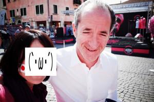 ジロデイタリアで出会ったパンターニ似のオジサン