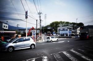 名古木交差点はヤビツ峠のスタート地点