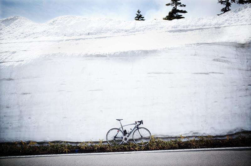 ターマックで遂に、憧れの雪の壁に到達しました!