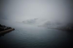 蒲刈大橋から望む瀬戸内の雲海