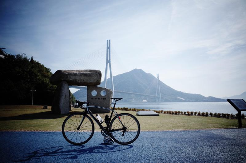 サイクリストの聖地の碑