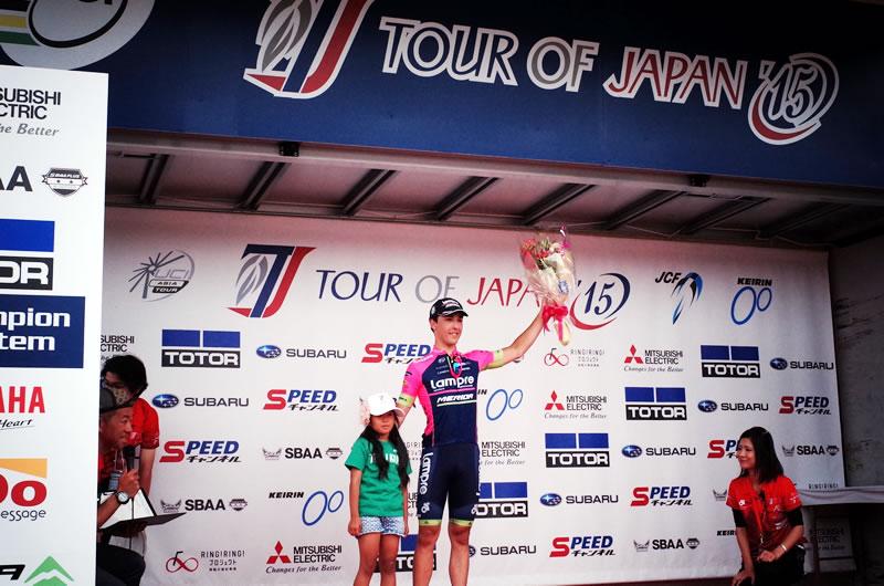 ステージ勝利したCONTI Valerio選手