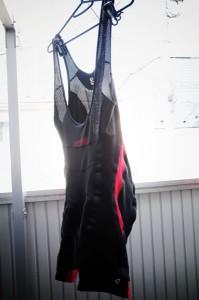 パールイズミ コールドブラック ビブパンツ(XLサイズ)