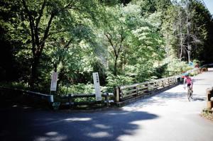 入山峠の入り口