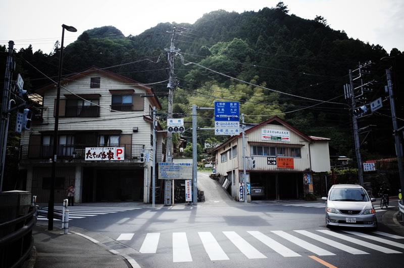 桧原村役場の交差点