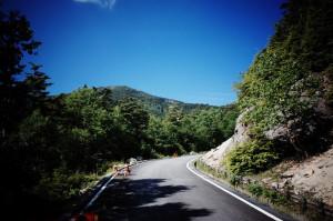 峠へ近づく昂揚感とアブと戦う緊張感が入り混じる