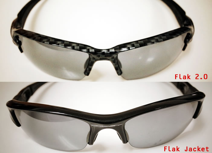 Flak 2.0とFlak Jacketの外観の違い
