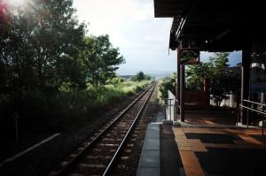 下北駅にて