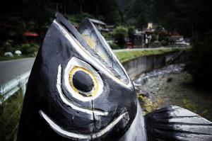 飯能の謎な魚アート