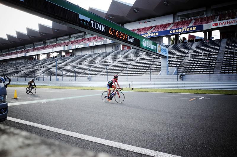 ジロデイタリアで活躍した石橋選手も走ってた!