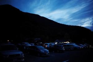 乗鞍観光センターの駐車場は明け方でもほぼ満車